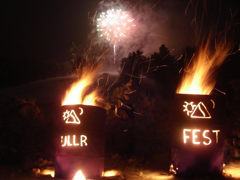 At Ullr Fest on Tuesday at Shawnee Peak in Bridgton, oil drum fires and fireworks, along with a torchlight parade and an apres ski party, are part of the salute to the Norse patron god of winter.