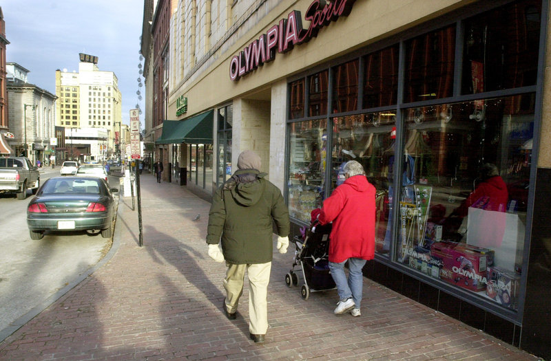 The former Olympia Sports store and the L.L. Bean outlet next door provide a sizable space for Renys.