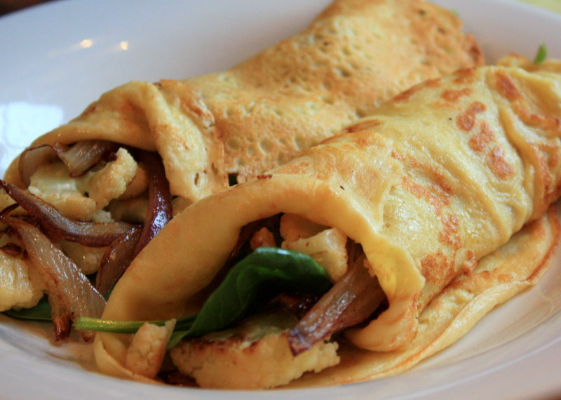Crepes lend themselves to fillings both savory and sweet.
