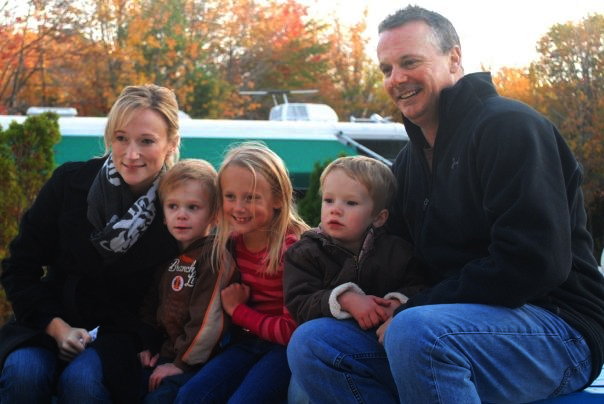 Kyle St. Clair, second from left, will be home in Scarborough for Christmas with his family, including his mother Kate, sister Alexis, brother Jackson and his father, Mark St. Clair.