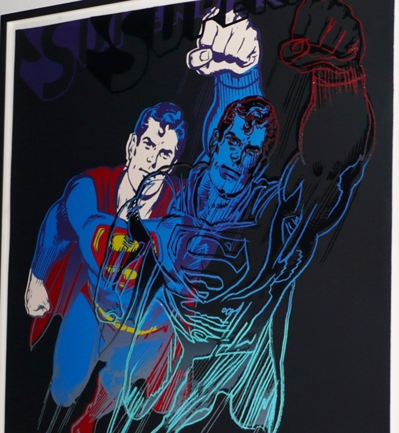 "Andy Warhol's ""Superman"" print, in detail here, is among $750,000 worth of iconic artwork, watches and jewelry stolen from a beef fortune heir's home in New York's Meatpacking District."