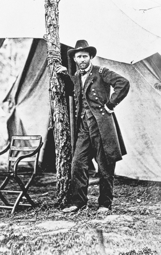 U.S. Gen. Ulysses S. Grant poses at Cold Harbor, Va., almost a year after capturing Vicksburg, a turning point for the Union in the Civil War.