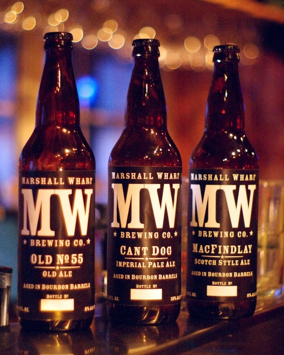 Marshall Wharf Brewing Co. selections will be introduced on New Year's Day.