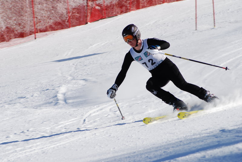 Tyler Holmquist of Gray-New Gloucester is relishing his senior ski season after budget cuts threatened his school's team.