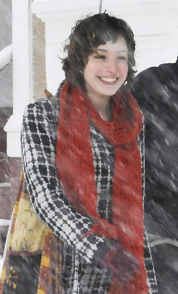 Zoe Sarnacki walks in Portland during a January 2009 snowstorm. Police say Chad Gurney choked and decapitated her, then set fire to her body in his apartment on Cumberland Avenue in Portland.
