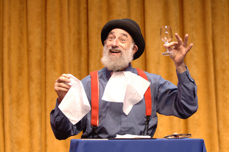 Avner the Eccentric performs his unique brand of comedy in Phyzgig's afternoon and evening shows on Friday.