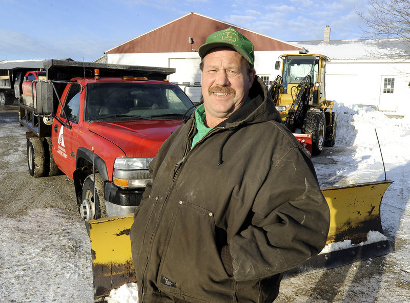 Stan Burnham directs Anderson Landscaping's snow-removal services for commercial and residential properties in North Yarmouth, Yarmouth, Cumberland, Falmouth and Pownal. He has 26 years of experience plowing snow.