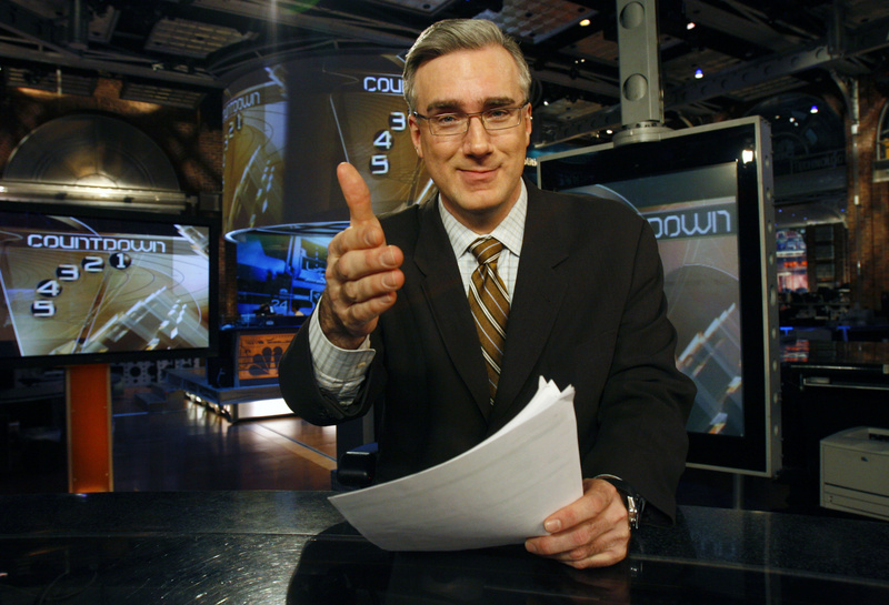 Keith Olbermann, seen on his set in the main studio of MSNBC in Secaucus, N.J., in 2007, had his last show Friday night. krtentertainment entertainment krtnational national krtcelebrity celebrity krttv television tv krtedonly mct 2007 krt2007