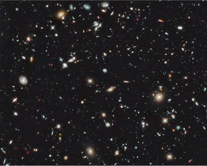 A handout image provided by NASA, taken by the Hubble Space Telescope, shows the sky in the region of the Hubble Ultra-Deep field taken with the new Wide Field Camera 3 Infrared imager.