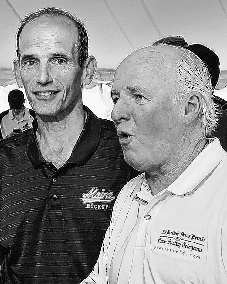 Gov. John Baldacci, left, and Richard Connor, MaineToday Media CEO, shown at a charity event in September, share personal ties from growing up in Bangor.
