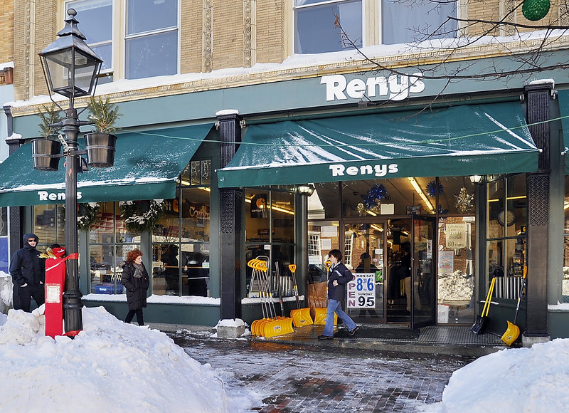 The Renys store in Bath is one of 14. A fleet of 10 trucks delivers merchandise to the stores from its warehouse in Newcastle.
