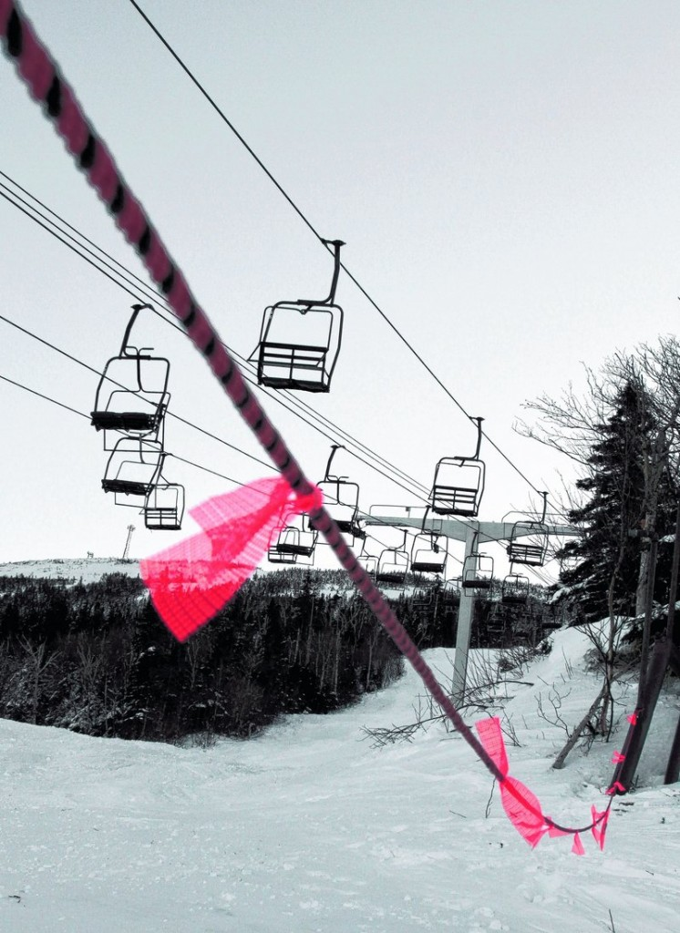A rope prevents access to the Spillway East chairlift on the day after the Dec. 28 cable derailment that left eight skiers injured when five chairs fell to the ground. Michael Katz, a state senator from Delaware, and his two young daughters were among those injured.
