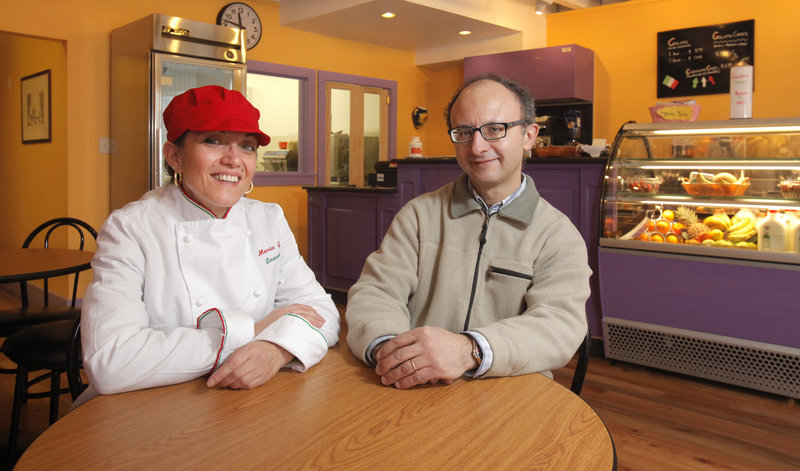 Mariagrazia Zanardi and her husband, Donato Giovine, opened Gorgeous Gelato last month after a carefully orchestrated move from Milan. Among other reasons, they decided Portland would be a good place to raise their two children.