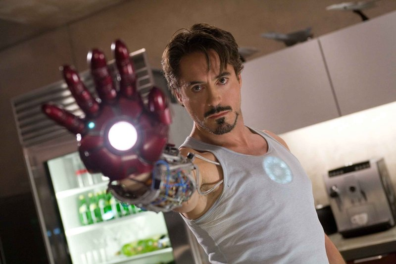 """Robert Downey Jr. is well-cast in the title role in """"Iron Man,"""" director Jon Favreau's exciting, inventive take on the Marvel Comics icon."""