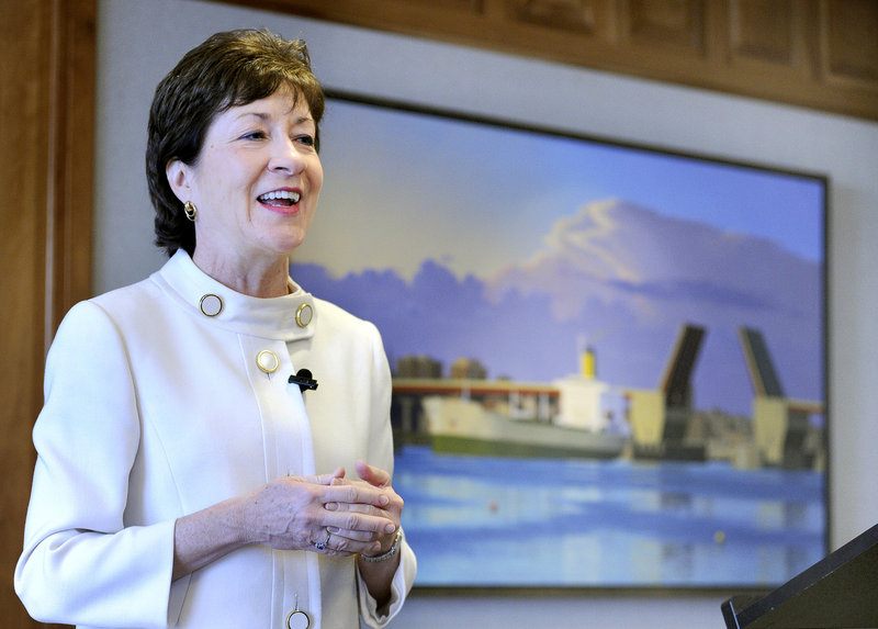 """""""It was exciting to help lead what I believe to be a historic change for our country, but boy it was not easy to get there,"""" Sen. Susan Collins said Friday about lifting the ban on gays openly serving in the military."""