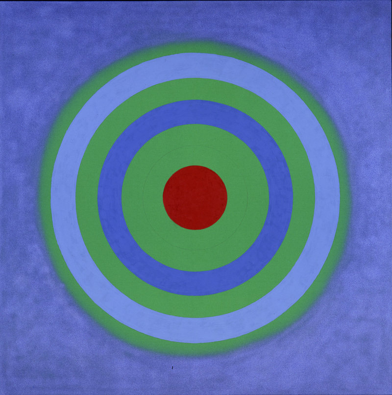 "Kenneth Noland's ""Mysteries: Primal Blue,"" 2002, acrylic on canvas."