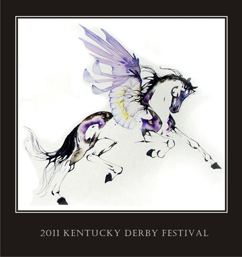 Sarah Lynn Richards' depiction of Pegasus, which she created for the 2011 Derby Festival.