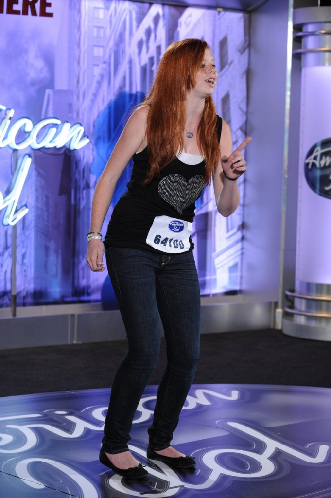 "Danielle Pease, 15, earned a Hollywood trip for the ""American Idol"" competition after qualifying in a mass audition in New Jersey that drew about 20,000 aspirants."