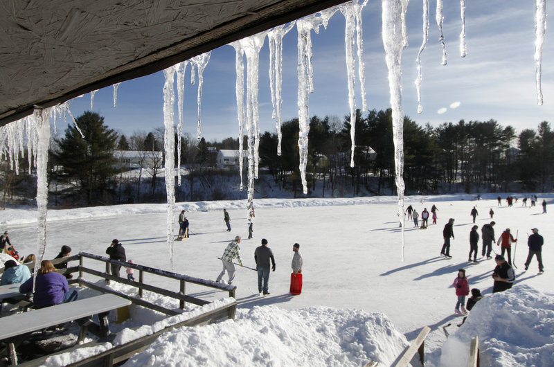 West Brook Skating Rink in Biddeford is open daily during the winter months.
