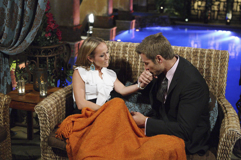 Bachelor Brad Womack took time out from his date with another woman to try to smooth things over with Mainer Ashley Hebert on Monday night's show.