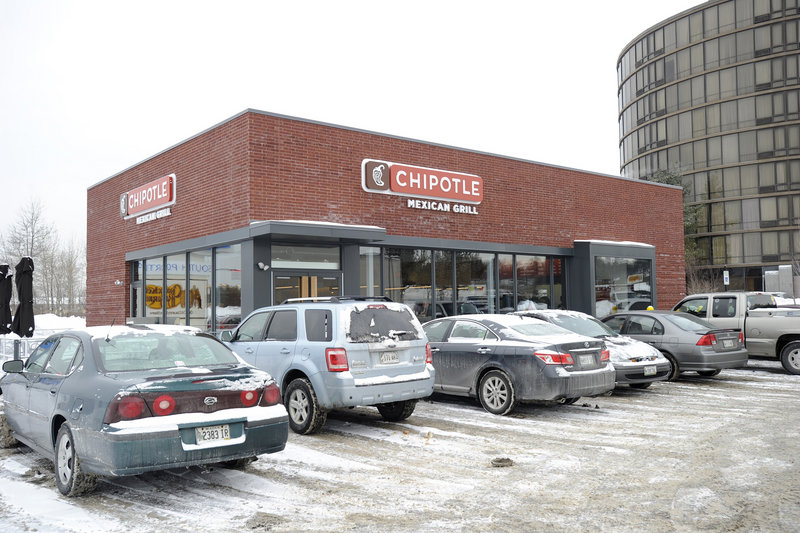 The Chipotle Mexican Grill opened on Maine Mall Road in South Portland last year along with Cracker Barrel, another nationwide chain.