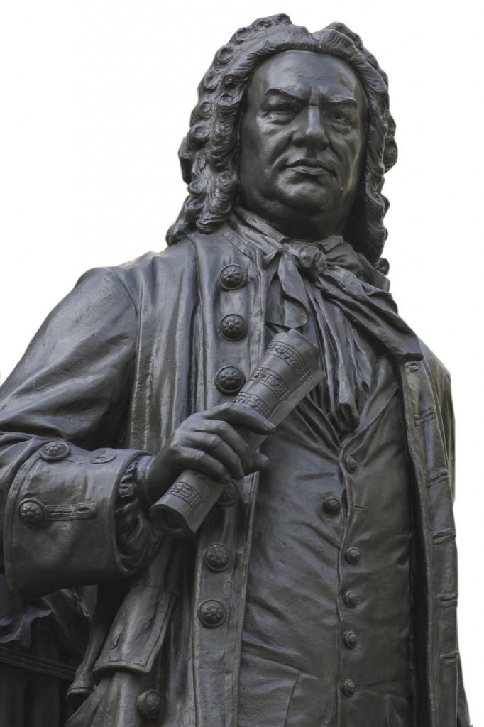 A statue of composer J.S. Bach