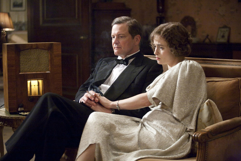 Colin Firth, left, and Helena Bonham Carter are shown in a scene from,