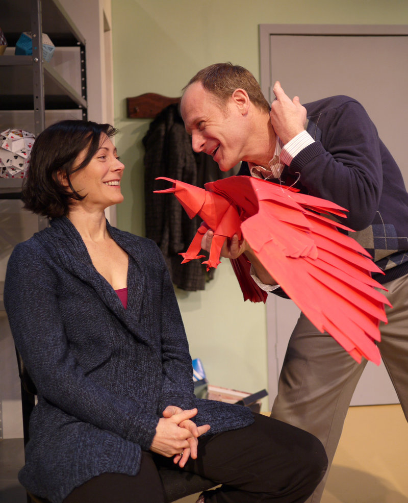 Caroline Strong and Christopher Gerson in Animals Out of Paper, playing at The Public Theatre in Lewiston from Friday through Feb. 6.