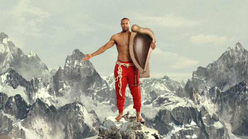 """Isaiah Mustafa is featured in a new commercial launching a collection of body washes, sprays and deodorants as a """"scent vacation"""" that evokes exotic locales such as Komodo and Fiji."""