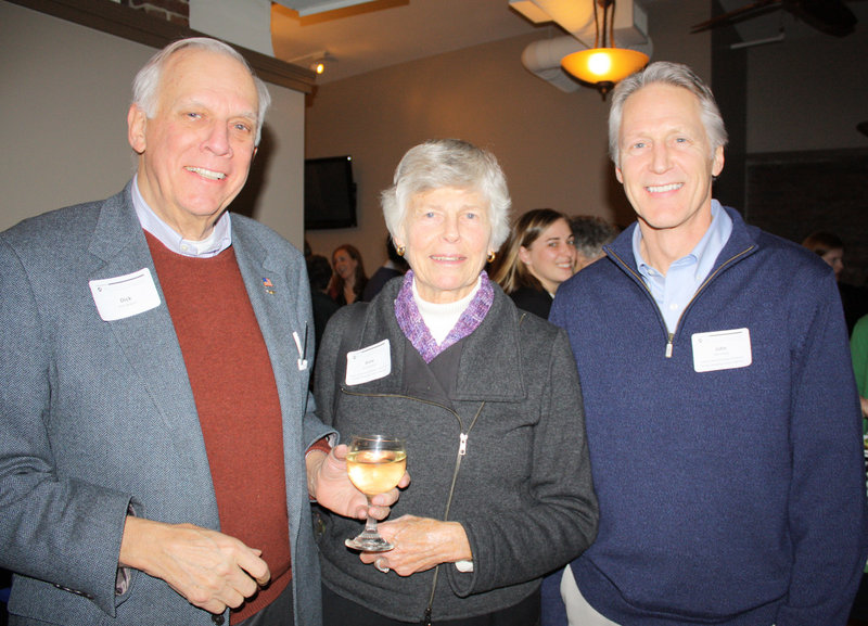Dick Jackson of the Maine Heritage Policy Center, Anne Jackson of the Maine Community Foundation and John Shoos of the United Way of Greater Portland.