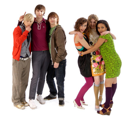 The cast of Skins, a teen MTV show.