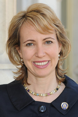 Rep. Gabrielle Giffords, D-Ariz. spoke for the first time since she was shot in the forehead, her spokesman said today.