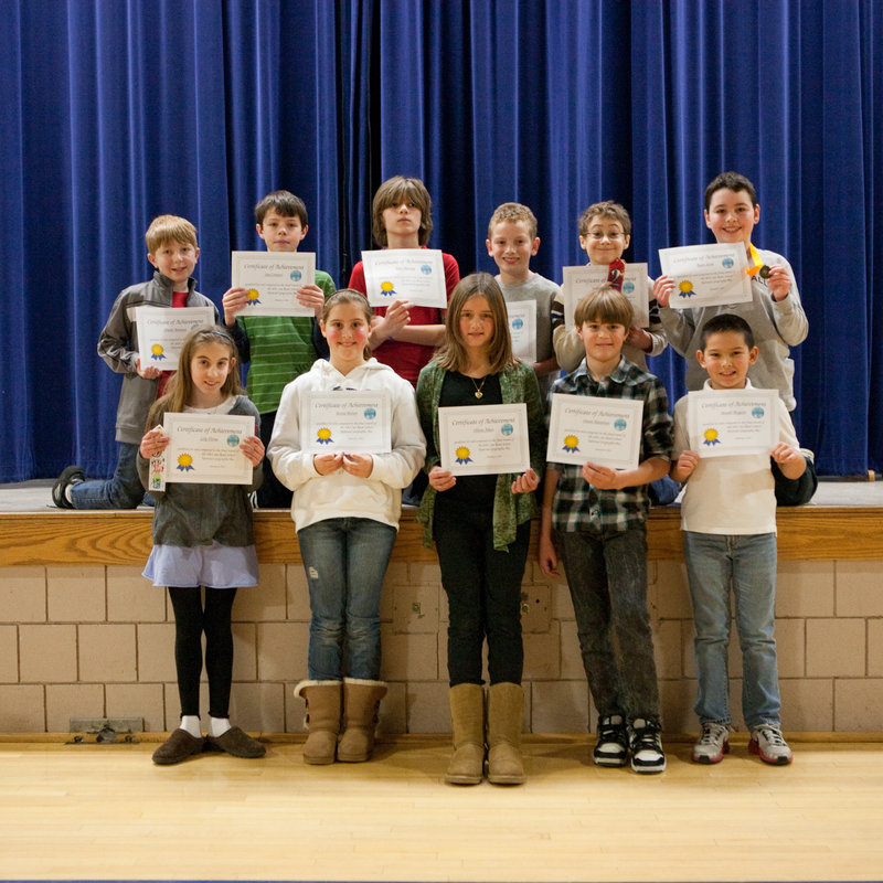 Finalists for the Sea Road School National Geographic Bee in Kennebunk are, from left, front, Lily Verna, Britta Brown, Olivia Aiken, Owen Manahan and Joe Bergeon; rear, David Amoroso, Ian Connors, Kyle Mooney, Jackson Humphrey, Nate Durham and Ryan Scott.