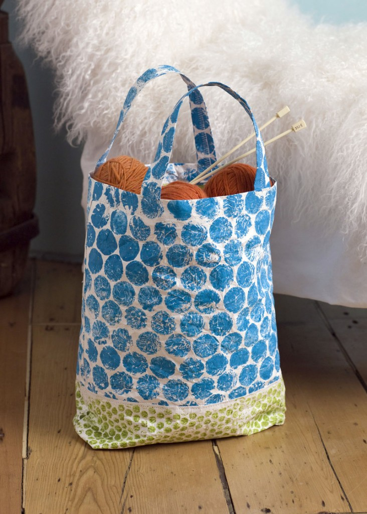 A tote bag made of Tyvek