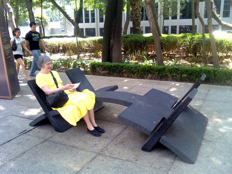 Mexico City features benches that are also functional works of art. Why can't Portland?