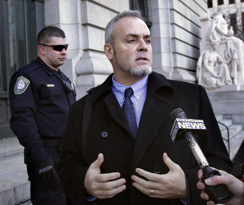 Former reality TV star Richard Hatch departs federal court in Providence, R.I., last month. Hatch, jailed in 2006 for tax evasion, began a three-year period of supervised release in 2009.