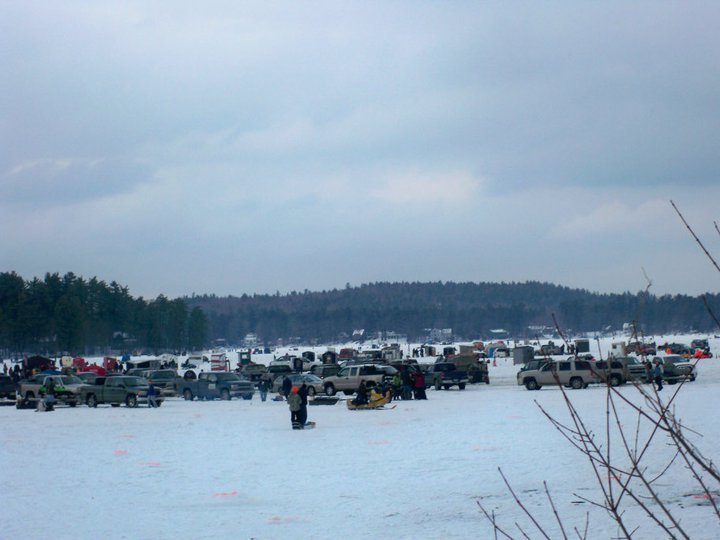 The second annual Crystal Lake Derby brought 6,000 people to the lake in Gray last weekend. Only 3,500 were there to fish while others were there to lend support.