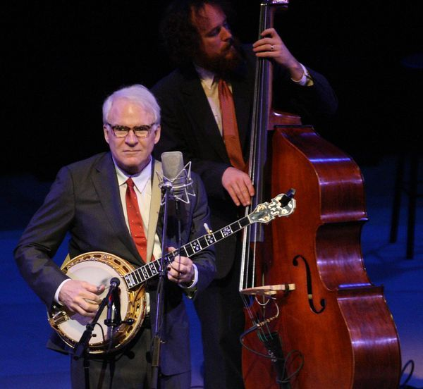 Tickets to Steve Martin's May 18 appearance with the Steep Canyon Rangers at Merrill Auditorium go on sale Monday.