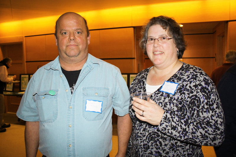 Volunteer Appreciation Award winner Darren McLellan and his wife, Pam McLellan