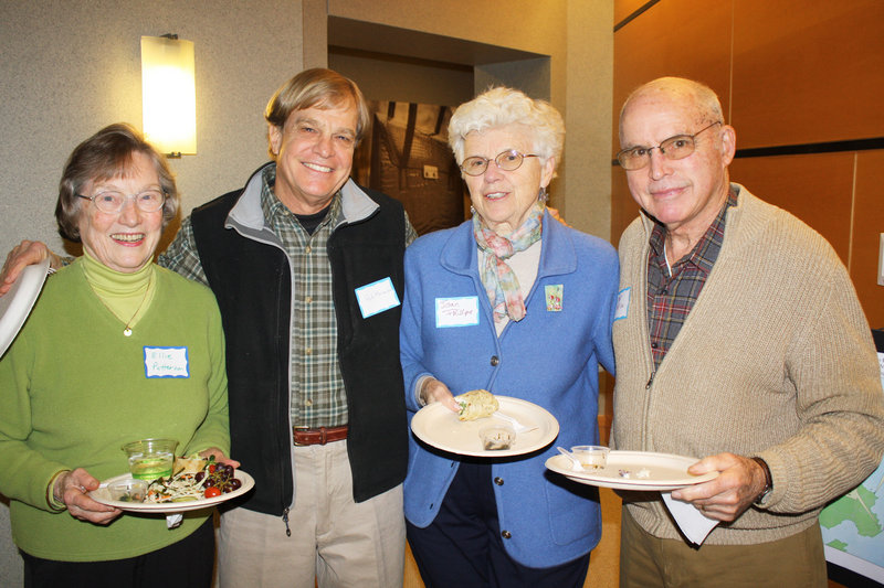 Harpswell residents Ellie Patterson, Rick Meisenbach, Joan Phillips and Walter Phillips, a volunteer water tester.