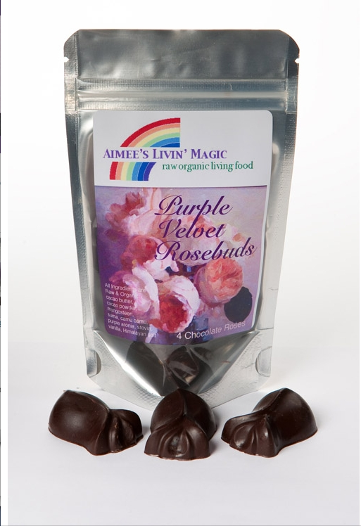 Aimee's Livin' Magic Purple Velvet Rosebuds