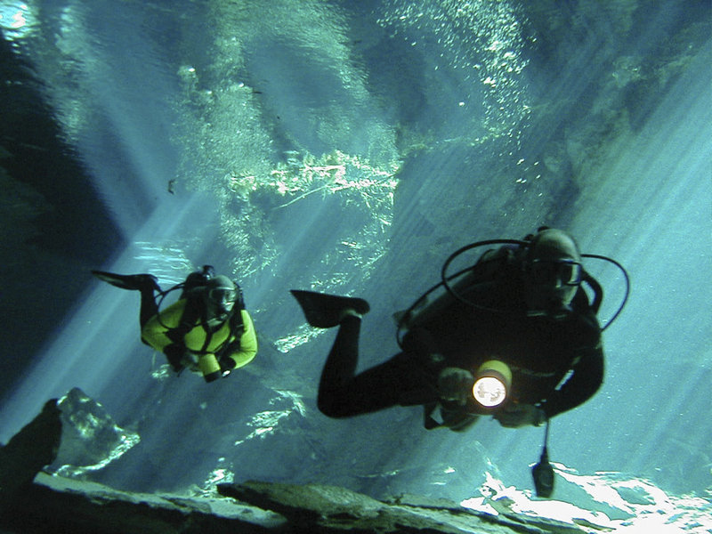 Cave divers must undergo rigorous training to be certified. The five levels of certification are cavern, basic cave, introduction to cave, apprentice cave diving and full cave certification.