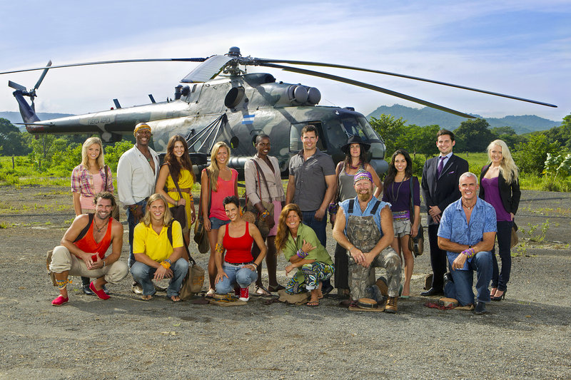 "The new castaways on ""Survivor: Redemption Island"" include, front row from left, Grant Mattos, Matt Elrod, Kristina Kell, Julie Wolfe, Ralph Kiser and Steve Wright; back row from left, Andrea Boehlke, Phillip Sheppard, Natalie Tenerelli, Ashley Underwood, Francesca Hogi, Mike Chiesl, Sarita White, Stephanie Valencia, David Murphy and Krista Klumpp. Former contestants Russell Hantz and ""Boston"" Rob Mariano will also join the cast in the 22nd installment of the Emmy-winning reality series. The new show premieres at 8 p.m. Feb. 16."