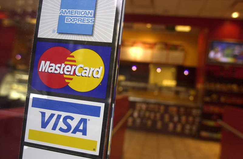 Credit-card spending rose 3.5 percent in December. The last time a gain was posted in that category was August 2008.