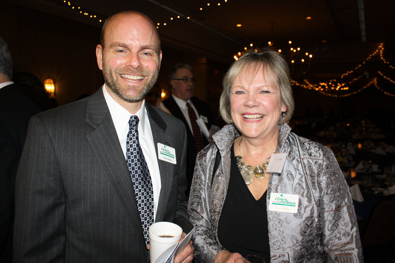 Board members Jim Salter and Julie Tselikis.