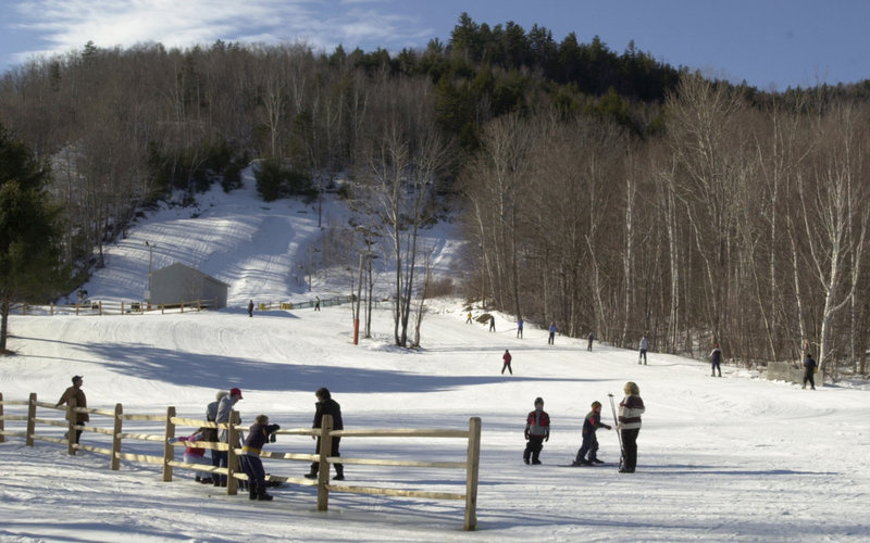 The beginners slope at Black Mountain in Rumford has seen big improvements along with the rest of the ski area since it was acquired in 2004 by the Maine Winter Sports Center.