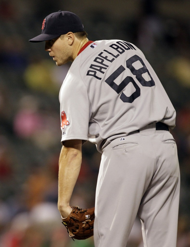 Jonathan Paplebon might be the most-watched member of the Red Sox pitching staff because his numbers have been steadily declining.