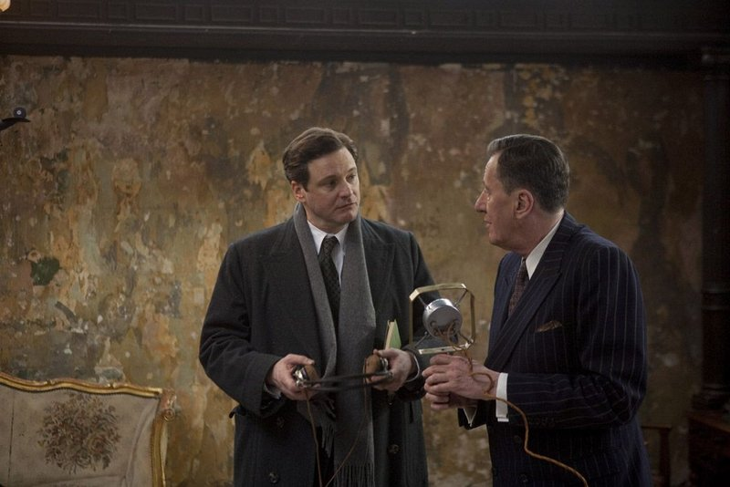 """You can still catch Colin Firth, left, and Geoffrey Rush in """"The King's Speech"""" at local theaters."""