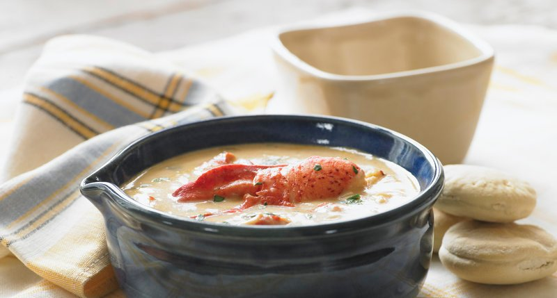 A serving of Calendar Islands Maine Lobster Co.'s lobster stew.