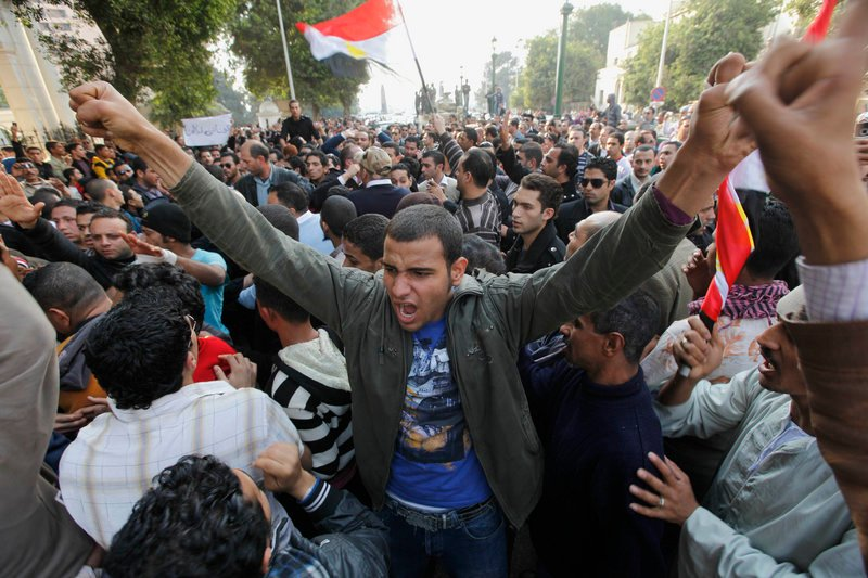 Demonstrators fill Cairo's Tahrir Square on Monday. Egypt's Supreme Military Council, which took power after Hosni Mubarak's resignation, urged Egyptians to go back to work, as thousands of state employees marched to demand better wages and other benefits.